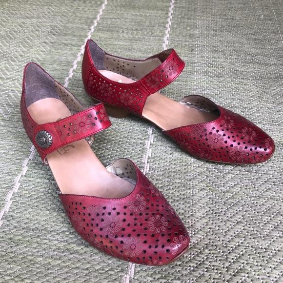 Red Rieker Miriam 1 Maryjane Shoes
